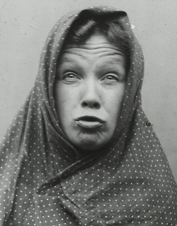 Victorians Pulling Face, 1900