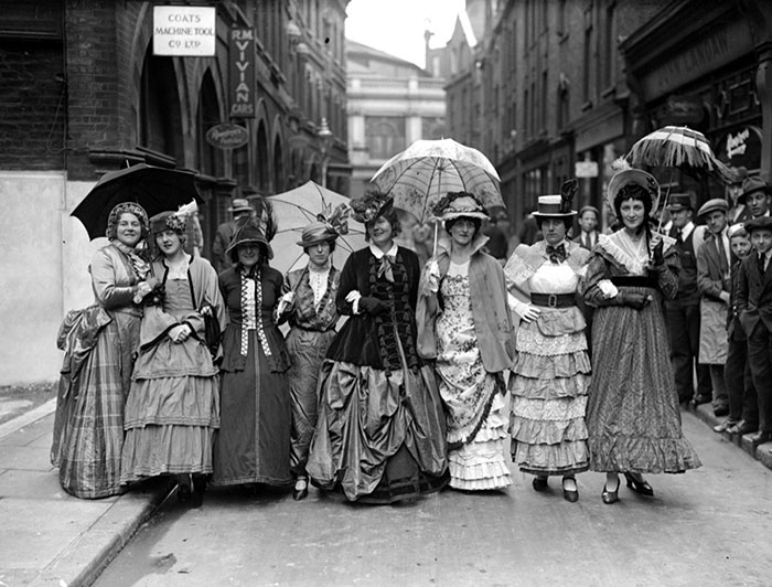 A Group Of Women To Celebrate The Centenary Of The London Bus