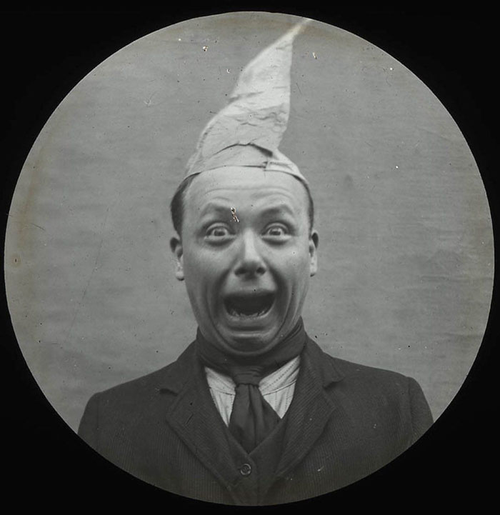 Man Pulling A Comical Face, 1900