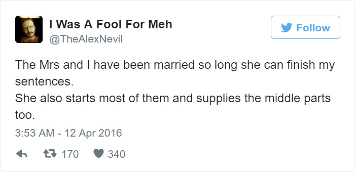 Funny Tweet About Wife