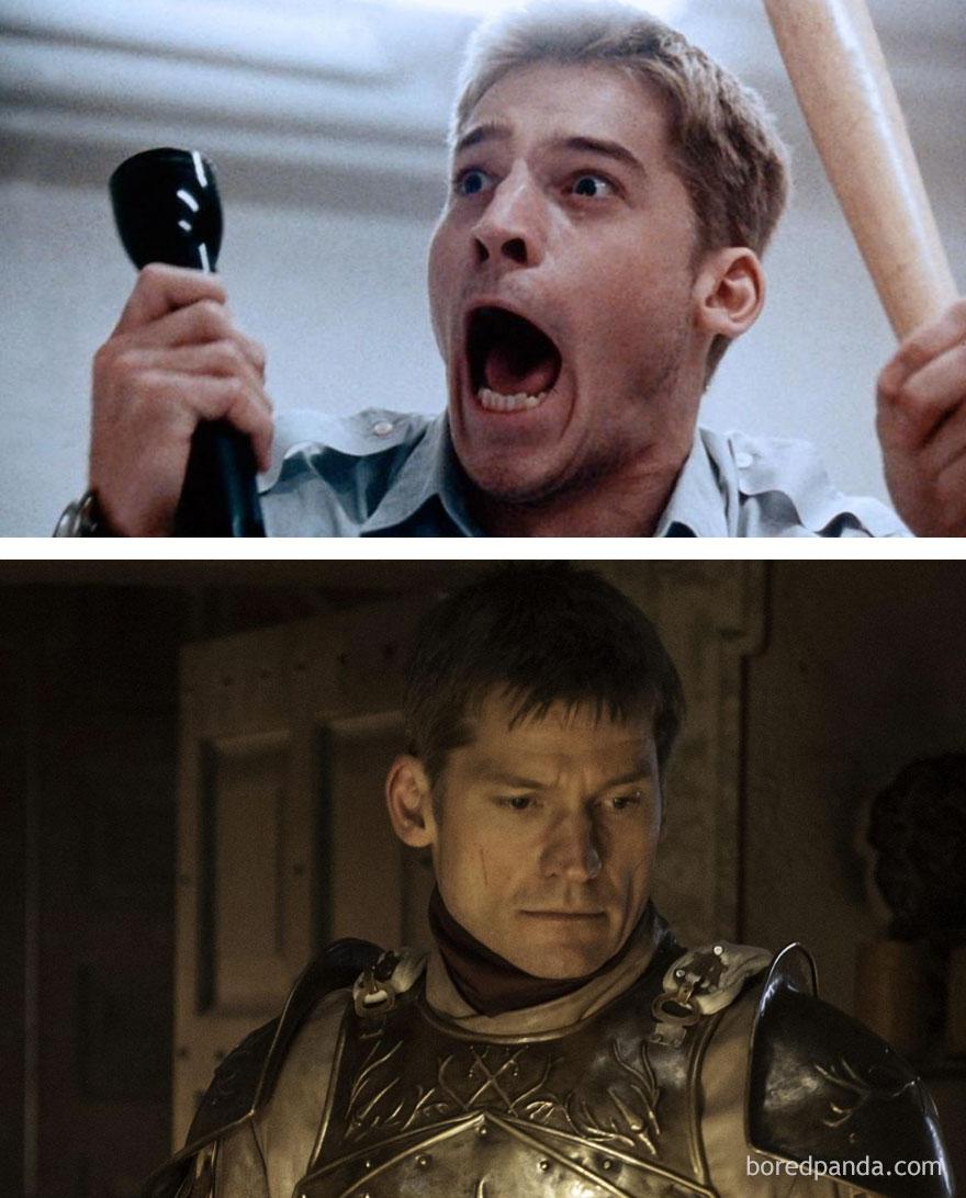 قبل وبعد مسلسل Game of Thrones - جايمي لانيستر