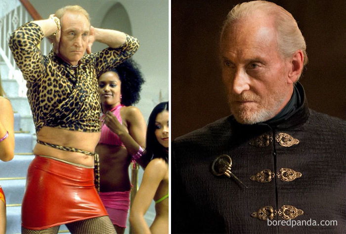 Charles Dance As David Carlton (In 2002's Ali G Indahouse) And As Tywin Lannister (In GoT)