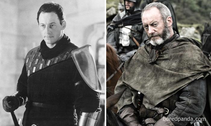 Liam Cunningham como Sir Agravaine (El primer caballero, 1995) y como Ser Davos