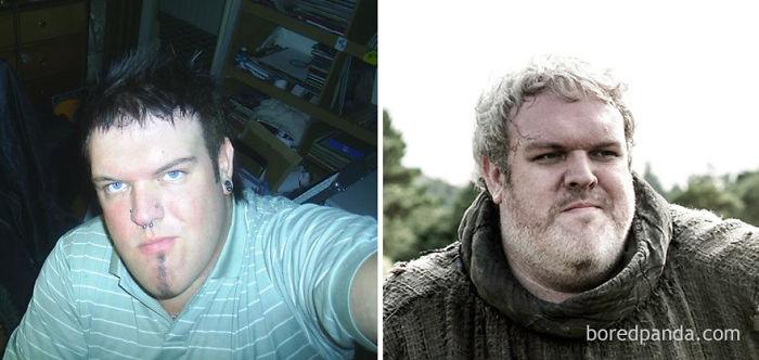 Kristian Nairn de joven y como Hodor