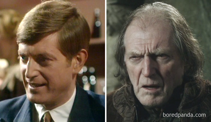 David Bradley As Colin Woodcock (In 1971's A Family At War) And As Walder Frey (In GoT)