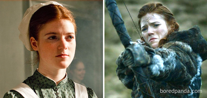 Rose Leslie As Gwen Dawson (In 2010's Downton Abbey) And As Ygritte (In GoT)
