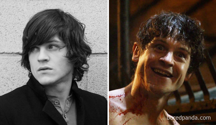 Young Iwan Rheon And As Ramsay Bolton (In GoT)
