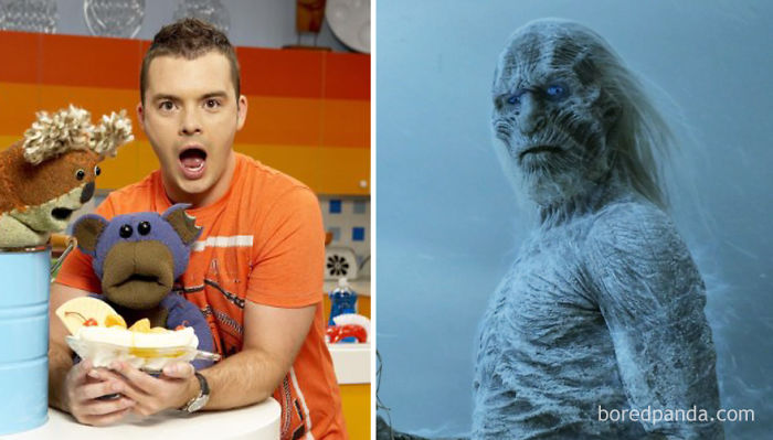Ross Mullan As Puppeteer (In 2007's Bear Behaving Badly) And As White Walker (In GoT)