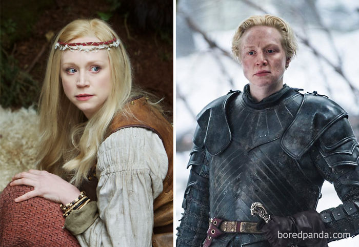 Gwendoline Christie As Lexi (In 2012's Wizards Vs. Aliens) And As Brienne Of Tarth (In GoT)