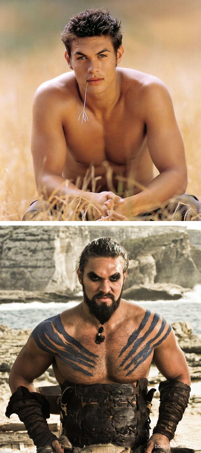 Jason Momoa como Jason (Los vigilantes de la playa, 2003) y como Khal Drogo