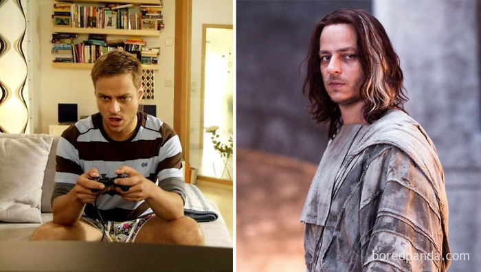Tom Wlaschiha (In 2008's Spoons) And As Jaqen H'gar (In GoT)