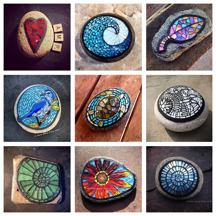 I Create Unique Mosaic On Stone