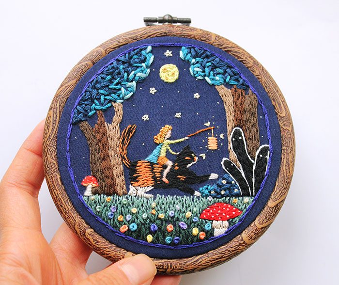 I Stitch My Illustrations Into Quirky Hoop Art And Accessories