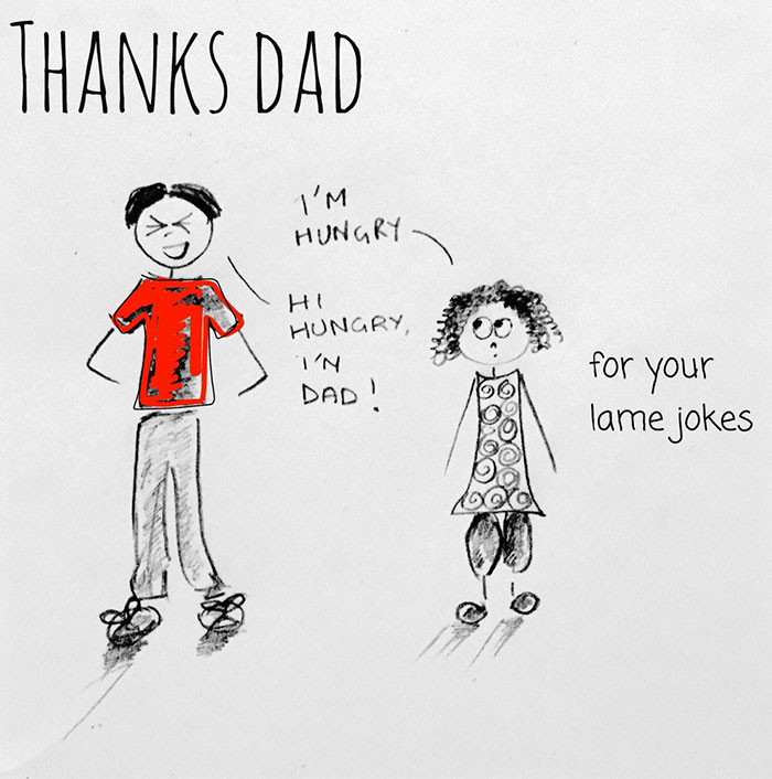 I Created These Illustrations To Thank All The Dads Out There
