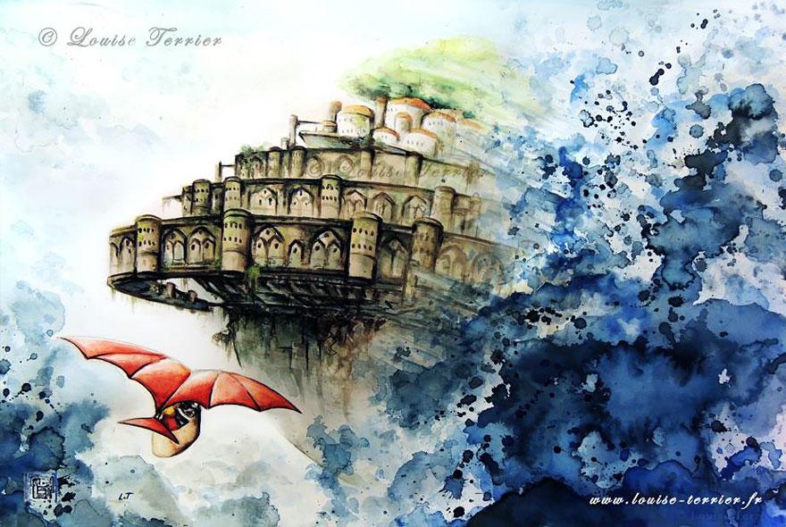 hayao-miyazaki-studio-ghibli-paintings-fan-art-louise-terrier-11