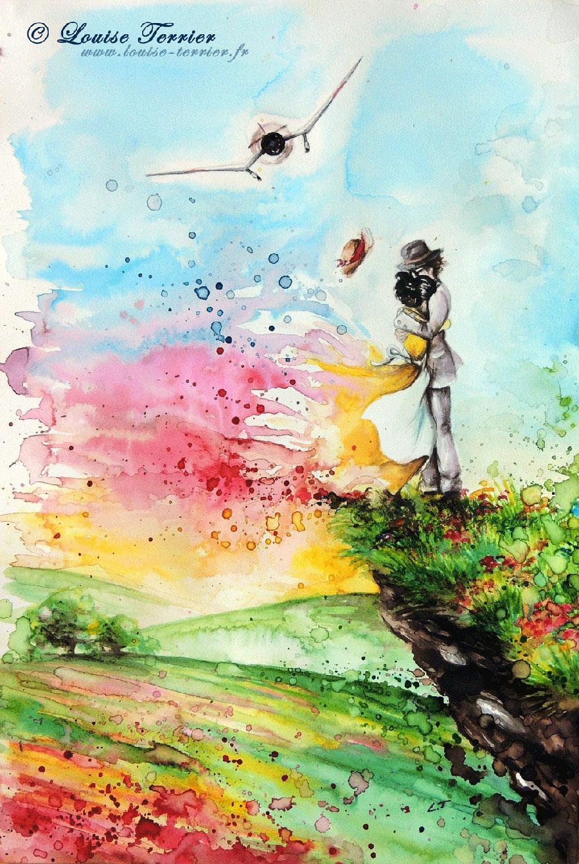 Hayao Miyazaki Studio Ghibli Paintings Fan Art Louise