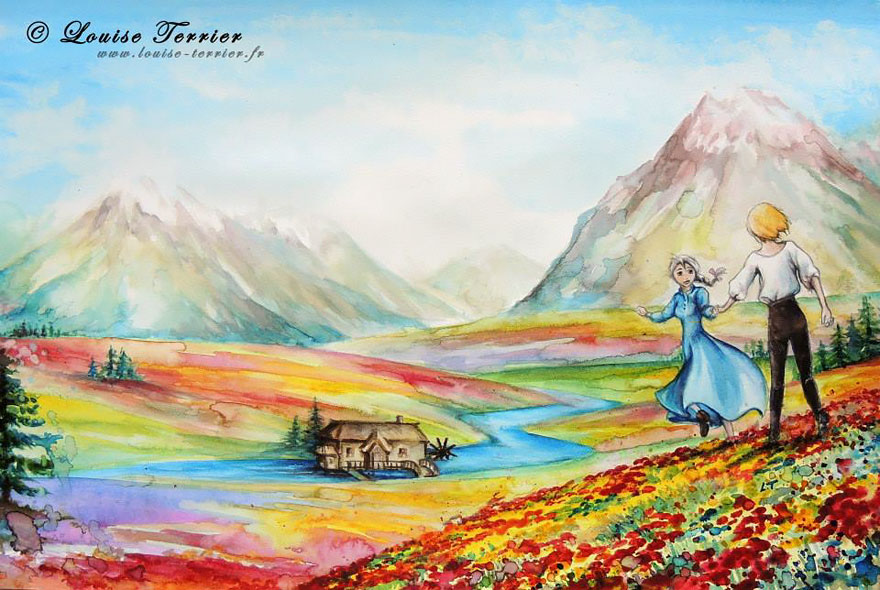 hayao-miyazaki-studio-ghibli-paintings-fan-art-louise-terrier-2