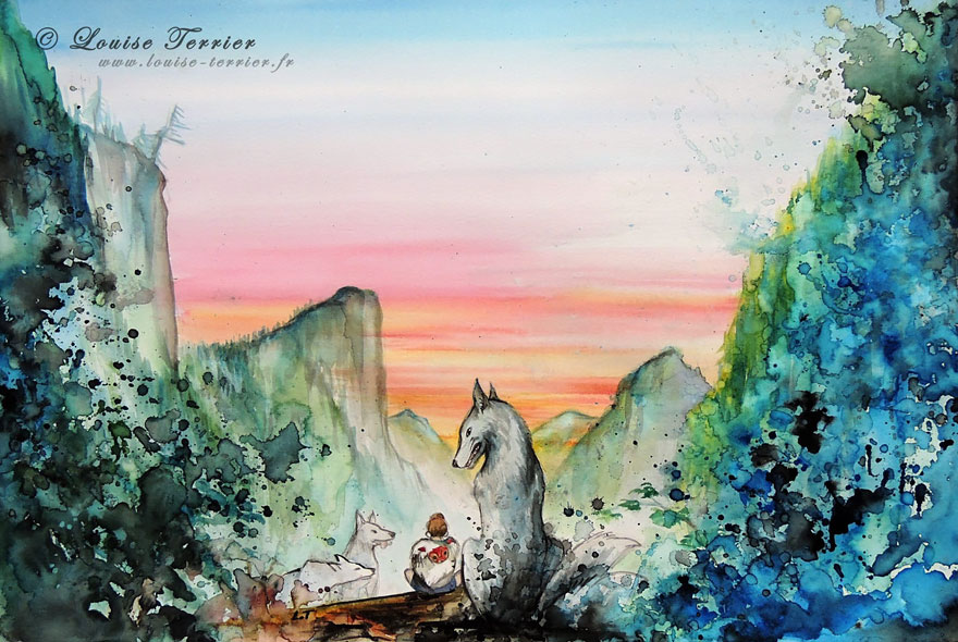 hayao-miyazaki-studio-ghibli-paintings-fan-art-louise-terrier-4
