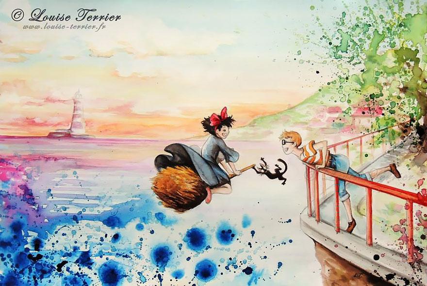 hayao-miyazaki-studio-ghibli-paintings-fan-art-louise-terrier-5