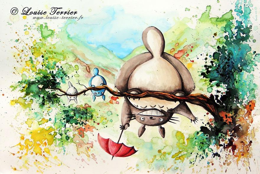 hayao-miyazaki-studio-ghibli-paintings-fan-art-louise-terrier-7