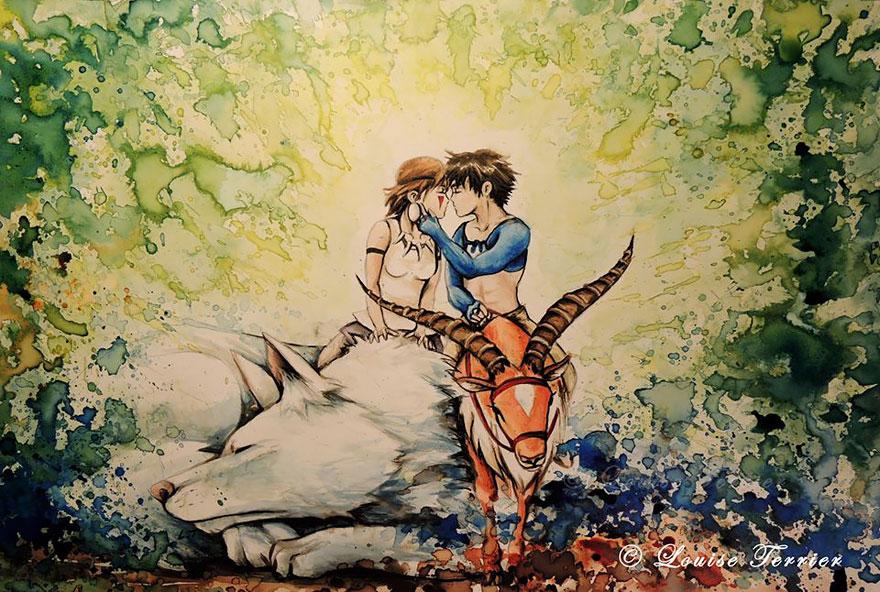 hayao-miyazaki-studio-ghibli-paintings-fan-art-louise-terrier-9