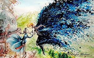 Studio Ghibli Inspired Watercolor Paintings By Louise Terrier (14 Pics)