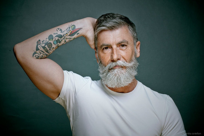 60 year old man becomes a fashion model after growing a beard 23