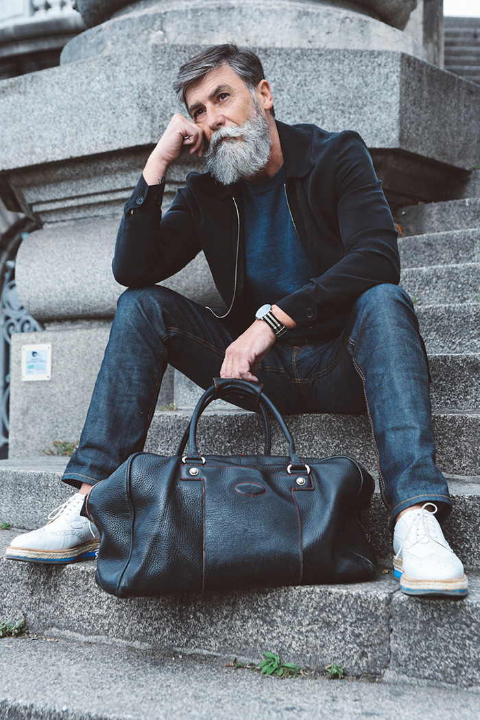 Best Haircuts For 50 Year Old Man : 60 year old man becomes a fashion model after growing beard 10