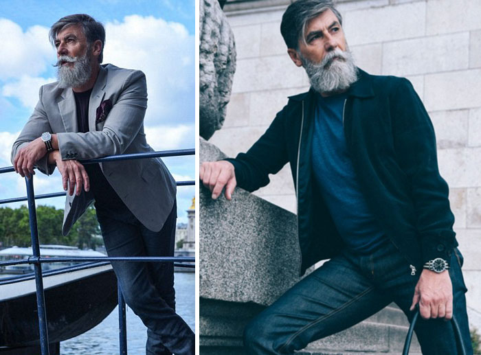 60-Year-Old Man Becomes A Fashion Model After Growing A Beard (23 Pics)