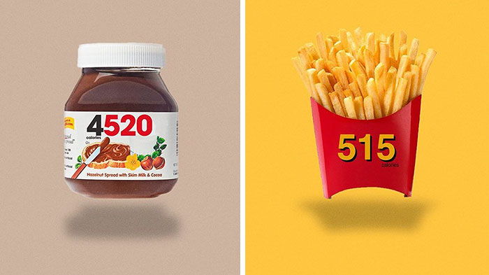 Food Logos Redesigned To Show Calorie Count