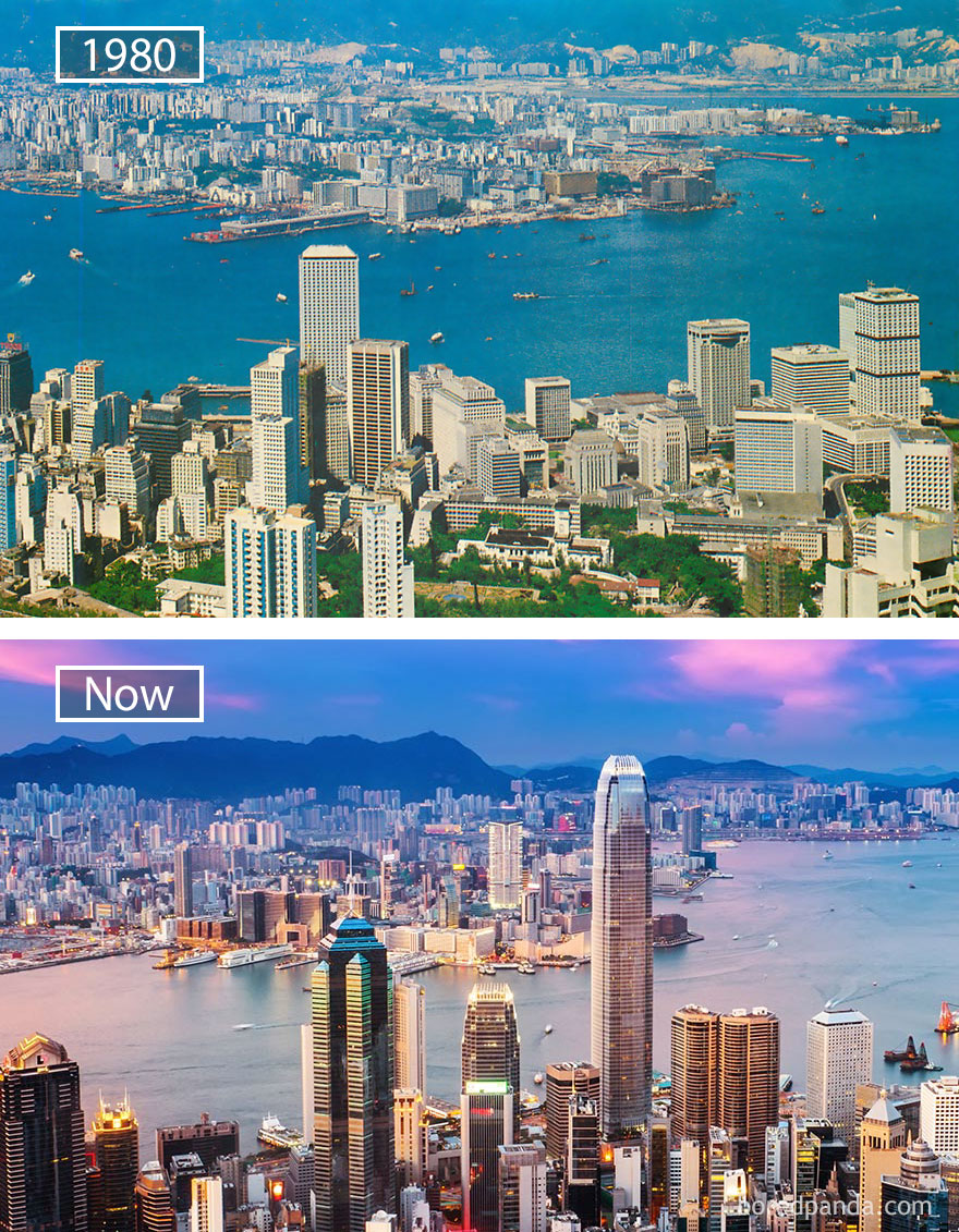Hong Kong, China - 1980 And Now