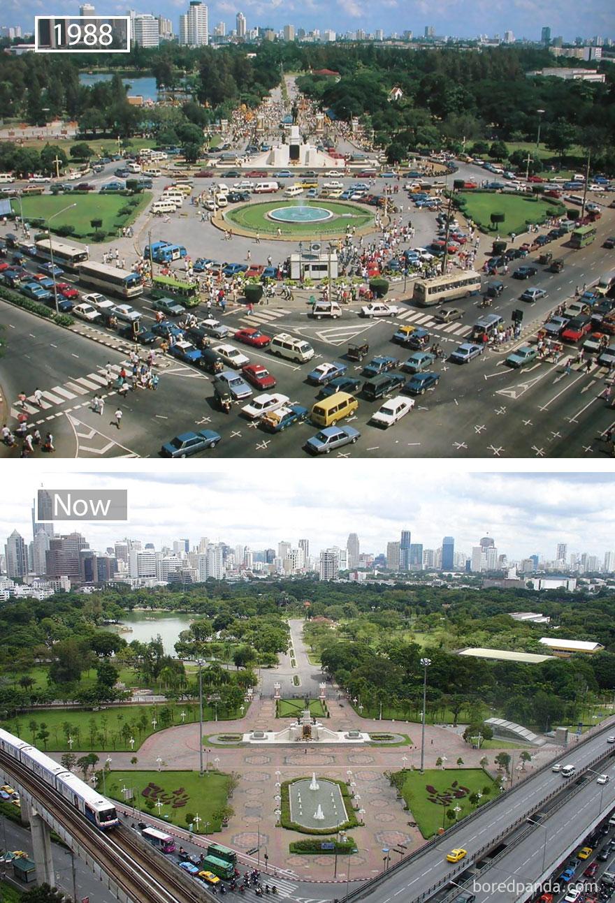 Bangkok, Thailand - 1988 And Now