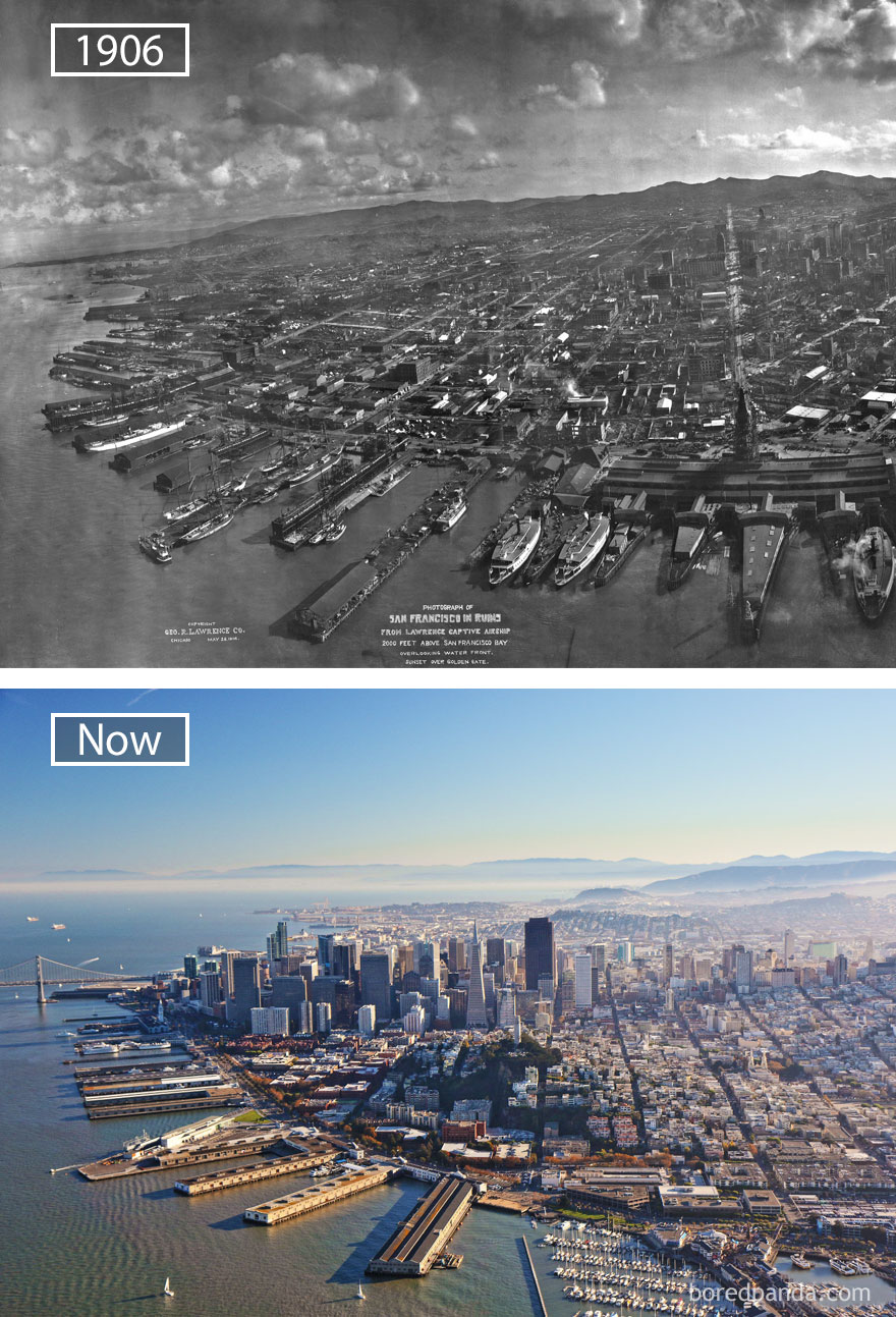 San Francisco, USA - 1906 And Now