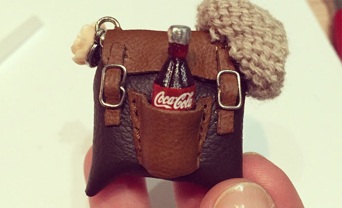 I Create Miniature Backpacks Brooches