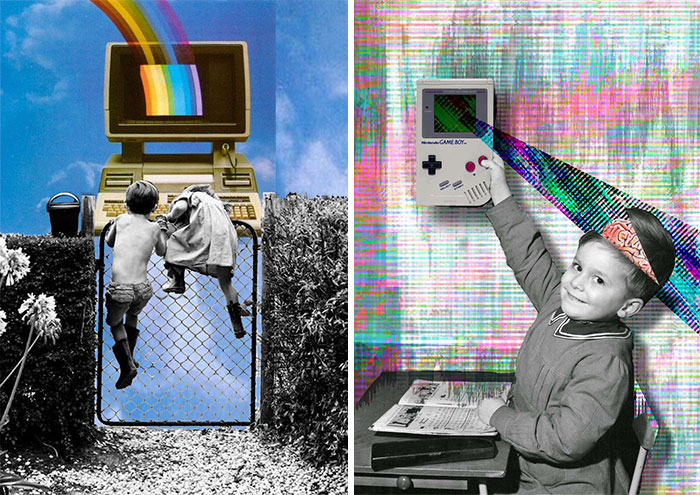 My Digital Collages Explain Today's Kids In Modern World