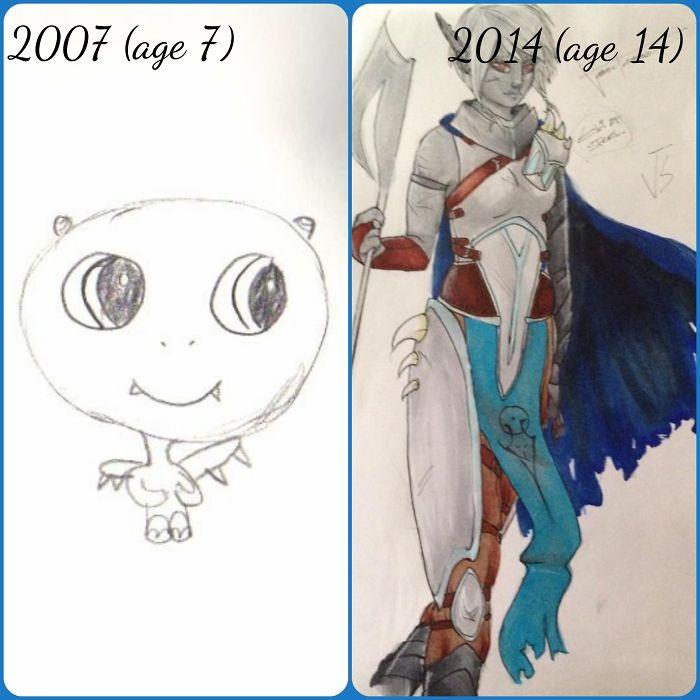 My Daughter's Progress Over 7 Years