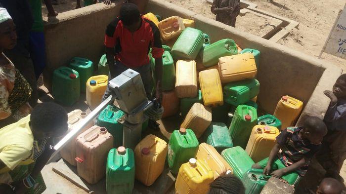 Queue For Water (burkina Faso)