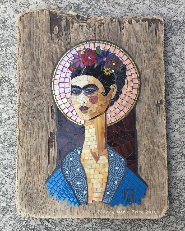 I Created Frida Kahlo Inspired Mosaic Art