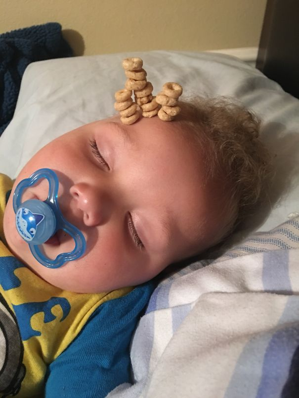 Just Turned One With 16 Cheerios