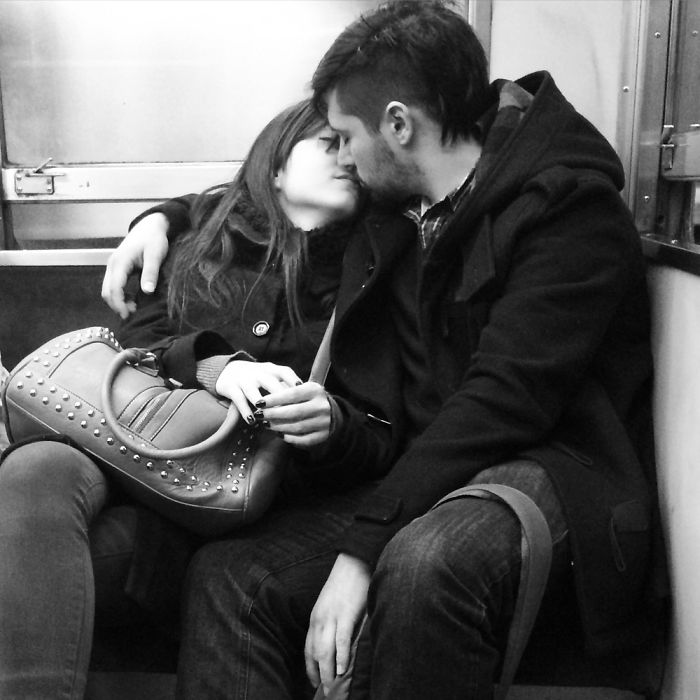 Lovers In The Subway, Buenos Aires, Argentina.