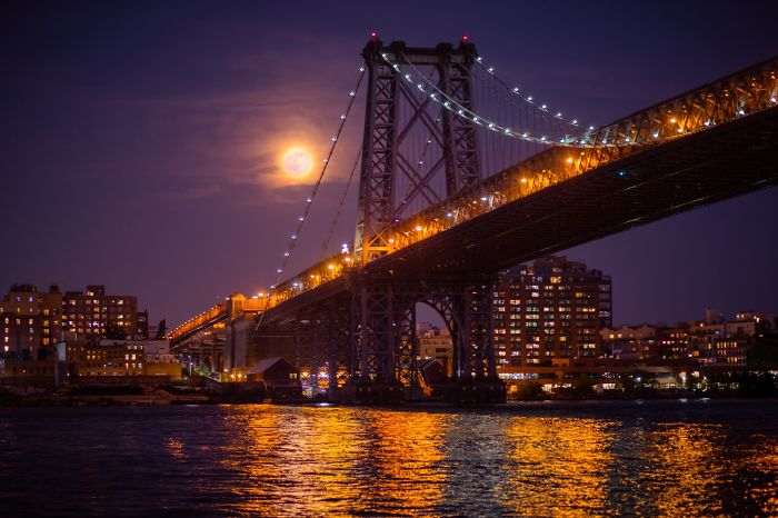 I Captured Full Moon During The Summer Solstice In New York City