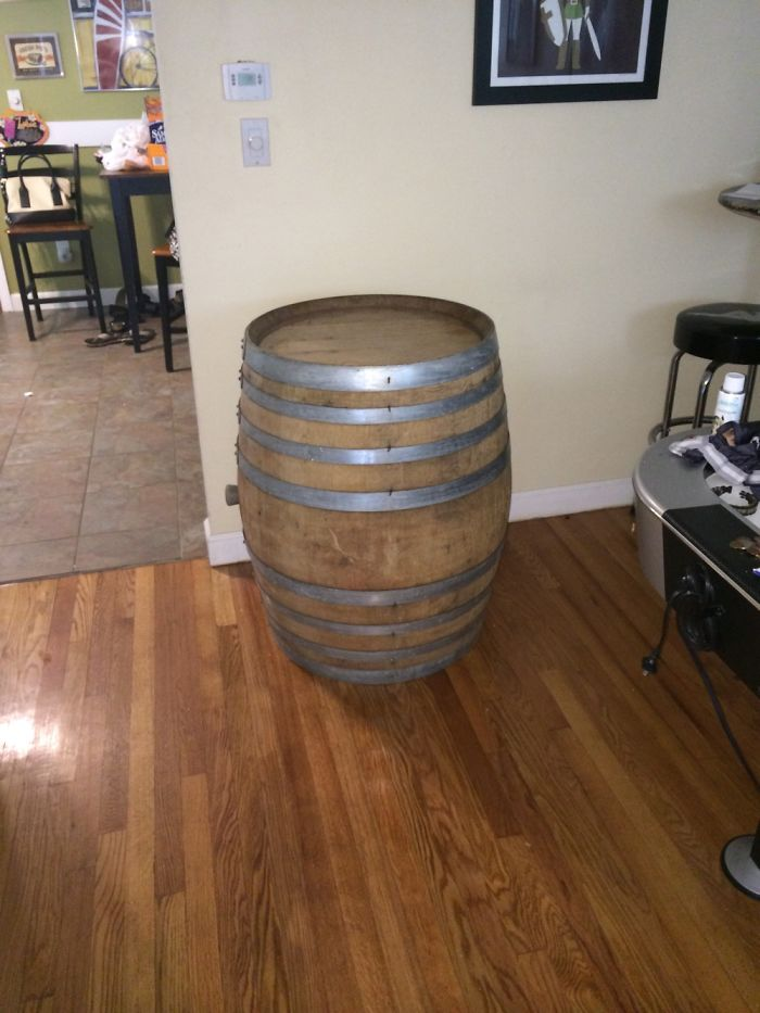 I Made A Wine Barrel Bar And You Can Make One Too!