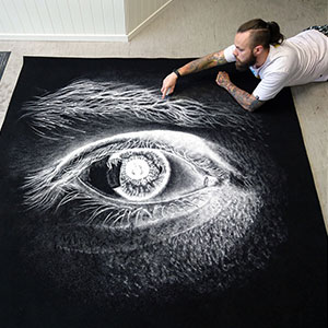 My Salt Drawings Reveal Their True Colors When Inverted