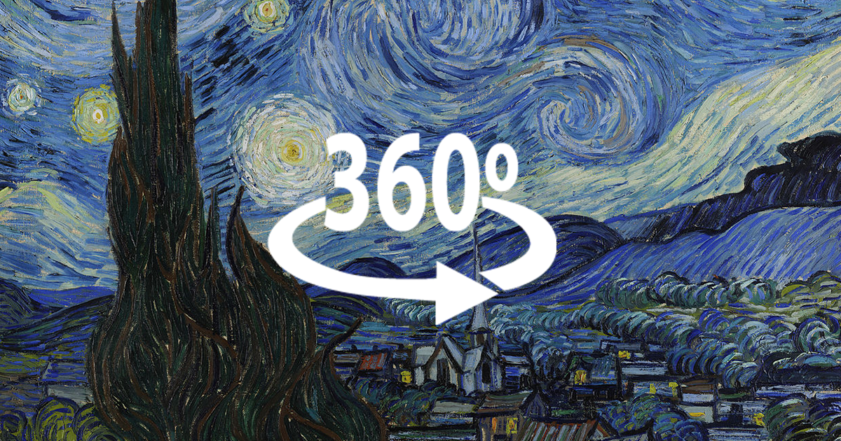 I've Made Van Gogh's 'The Starry Night' In 360° | Bored Panda
