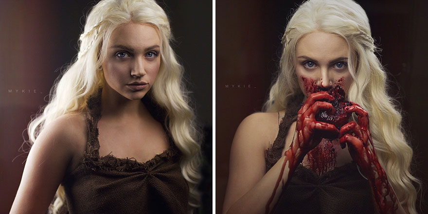 Daenerys Before And After Becoming The Dothraki Queen