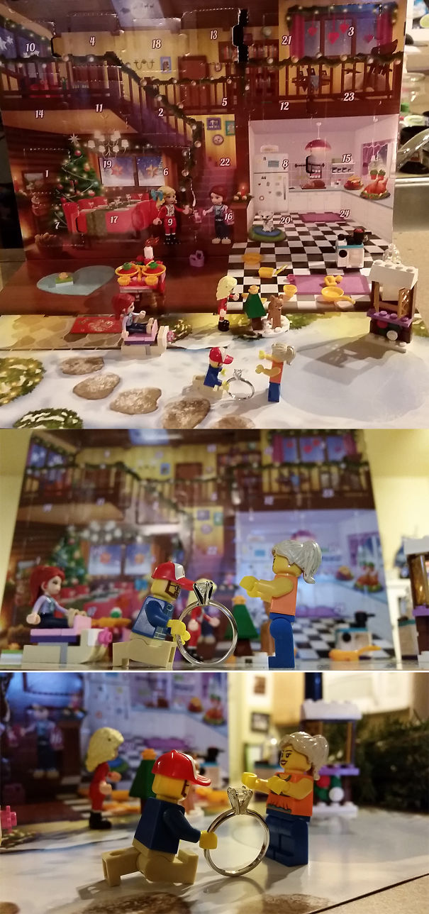 "Lego Advent Calendar With Lego ""us"" Proposal On 12/13/14"