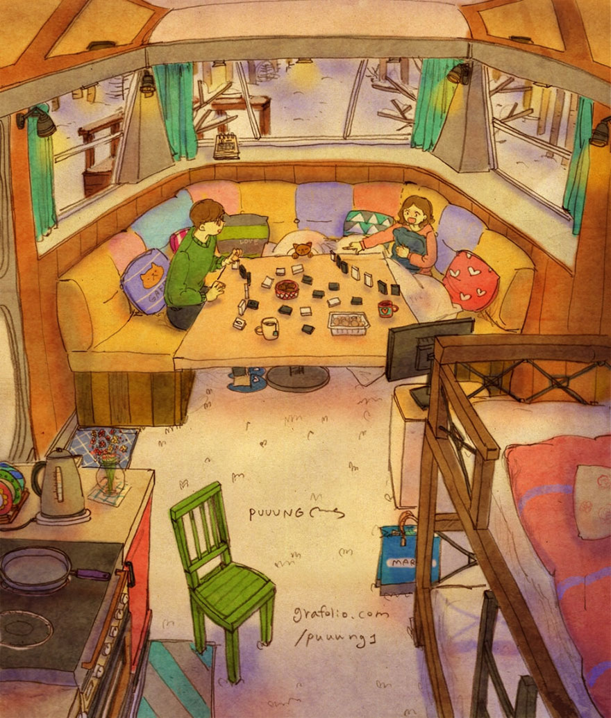 Playing Board Games In A Camper