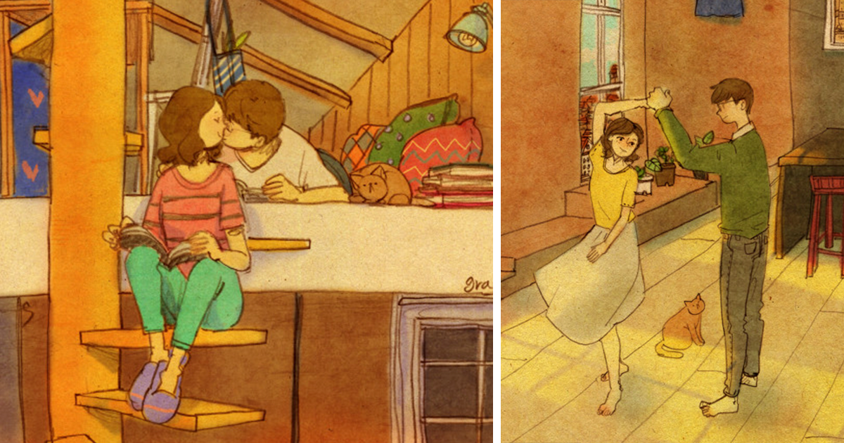 Love Is In The Small Things: New Illustrations By Korean Artist Puuung (20+ Pics)
