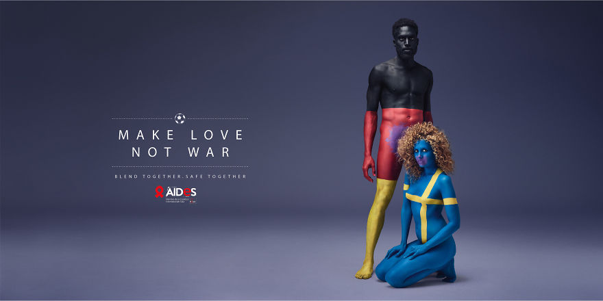 Make Love, Not War: Clever Ad Campaign Against AIDS | Bored Panda