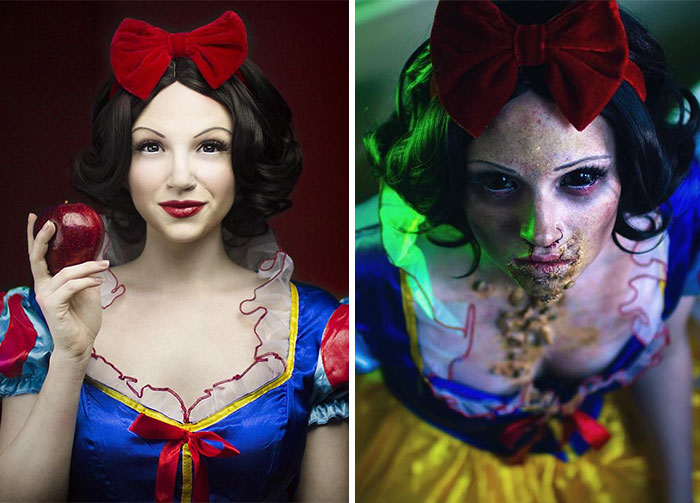 Glam & Gore: Self-Taught Artist Shows The Fate Of Disney Princesses And Pop Icons
